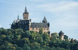 Castle in Wernigerode Germany. Europe stock images