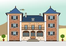 Castle with white shutters. Vector illustration of a castle, file EPS 8 Royalty Free Illustration