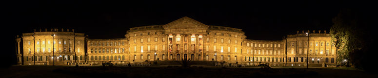 Castle wilhelmshoehe germany high definition panorama at night Royalty Free Stock Image