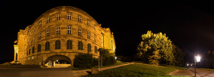 Castle wilhelmshoehe germany high definition panorama at night Royalty Free Stock Images