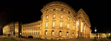 Castle wilhelmshoehe germany high definition panorama at night Royalty Free Stock Photography