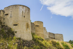 The castle of William the conqueror. The castle where William the conqueror was born in the town of Falaise in  Normandy Stock Photos