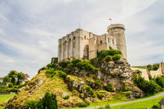 The castle of William the conqueror. The castle where William the conqueror was born in the town of Falaise in Normandy Stock Photo