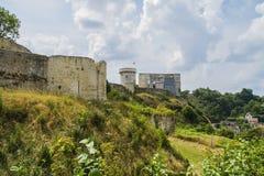 Castle william the conqueror. The castle where William the Conqueror was born in the town of Falaise Normandy Stock Images