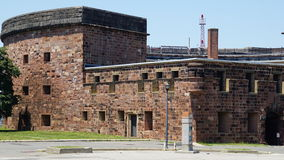 Castle Williams on Governors Island in New York Harbor. USA royalty free stock photos