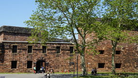 Castle Williams on Governors Island in New York Harbor. USA stock image