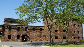 Castle Williams on Governors Island in New York Harbor. USA stock photo