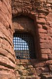 Castle Window. The oron barred window in a thirteenth century Scottish Castle Royalty Free Stock Photography