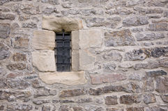 Castle window. Within an english norman castle, cu,bria, england royalty free stock images