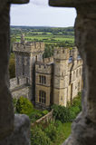 Castle window. Looking out a castle window at Arundel Castle, England royalty free stock photo