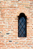 Castle Window On Brick Wall Royalty Free Stock Photography