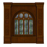 Castle window - 3D render Stock Images