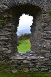 Castle Window. View from Dolwyddellan Castle window Stock Images