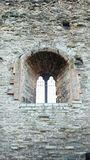 Castle windows stock image