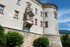 Castle with windows and tower Stock Photos