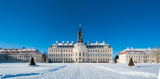 Castle in winter, Hubertusburg Royalty Free Stock Photos