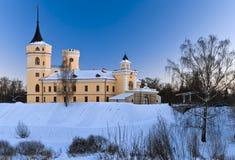 Castle in winter. Mariental Castle in winter, earthworks under snow Royalty Free Stock Photo