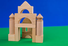 Castle of wood blocks Royalty Free Stock Photography