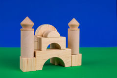 Castle of wood blocks Stock Images