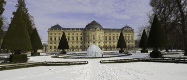 Castle Wuerzburg in the winter Stock Photography