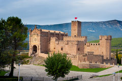 Castle of Xavier in Navarre. Home of Saint Francis Xavier Stock Photos