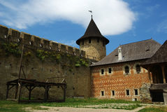 Castle yard. Yard of Khotyn castle (Ukraine Royalty Free Stock Photo