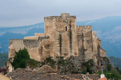Castle of yeste. Yeste Castle, in the province of albacete, is an arabic castle what was in the border with the Kingdom of Granada Royalty Free Stock Images
