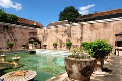 Castle in Yogyakarta, Indonesia. Royalty Free Stock Images