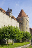 Castle of Yverdon (Switzerland) Royalty Free Stock Photos