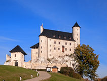 Castle Zamek Bobolice in Poland. Medieval Castle Zamek Bobolice, Poland, built in 14th century, renovated in 20th century Royalty Free Stock Image