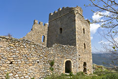 Castle of Zarnata at Mani, Greece Royalty Free Stock Photo