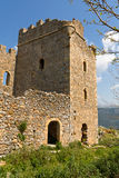 Castle of Zarnata at Mani, Greece Stock Images