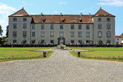 Castle Zeil scenery. Renaissance-style castle Zeil - a princely residence in Allgäu, Germany - with its gardens at summer Stock Images