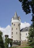 Castle Zleby in Bohemia. Beautiful castle in the middle of the Czech Republic Stock Image