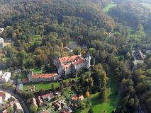 Castle Zleby in Czech Republic stock images