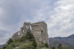 Castle in Zuccarello Stock Images
