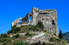 The castle Zuccarello, Savona, Italy Stock Photography