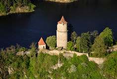 Castle Zvikov. Castle house in czech republic air photo Royalty Free Stock Photos