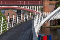 Castlefield桥梁 库存照片