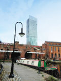 Castlefield with Beetham tower in Manchester UK Royalty Free Stock Photos