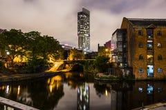 Castlefield en el centro de Manchester City Fotografía de archivo libre de regalías