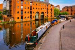 Castlefield, het gebied van het binnenstadsbehoud in Manchester, het UK stock afbeeldingen