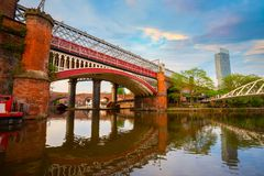 Castlefield, l'area di conservazione del centro urbano a Manchester, Regno Unito fotografia stock