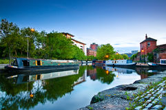 Castlefield Manchester canal Royalty Free Stock Images