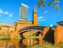 Castlefield Manchester, England, Förenade kungariket Fotografering för Bildbyråer