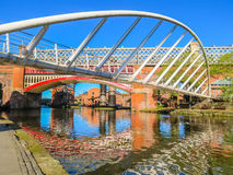 Castlefield, Manchester, England, United Kingdom. Bridges and channels of the Castlefield, an inner city conservation area, Manchester, England, United Kingdom stock photo