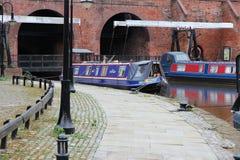 Castlefield in Manchester, het UK Stock Foto's