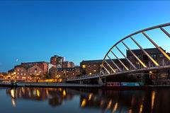 castlefiled пешеходный мост Стоковые Фотографии RF