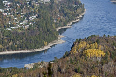 Castlegar and Kootenay River Royalty Free Stock Photo