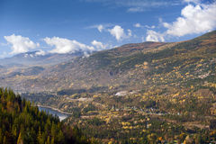 Castlegar and Kootenay River Royalty Free Stock Images